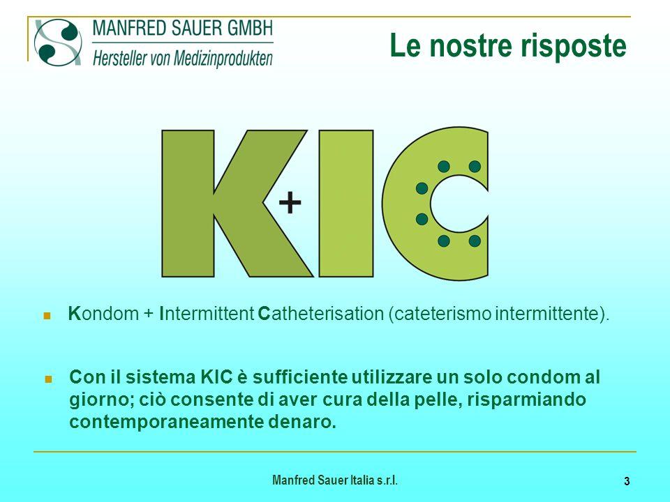 Le nostre risposte Kondom + Intermittent Catheterisation (cateterismo intermittente).