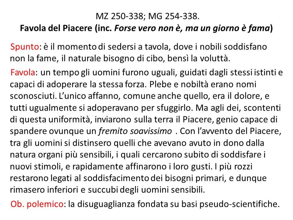 MZ 250-338; MG 254-338.Favola del Piacere (inc.