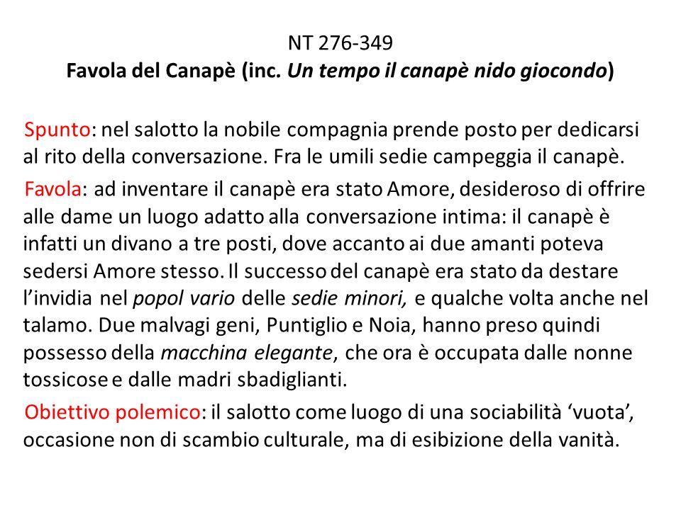 NT 276-349 Favola del Canapè (inc.