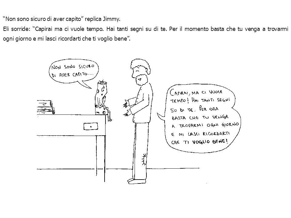 Come risponde stupito Jimmy Gli adesivi si appiccicano solo se ti importano. Tanto più ti affidi al mio amore, tanto meno ti importano i loro adesivi
