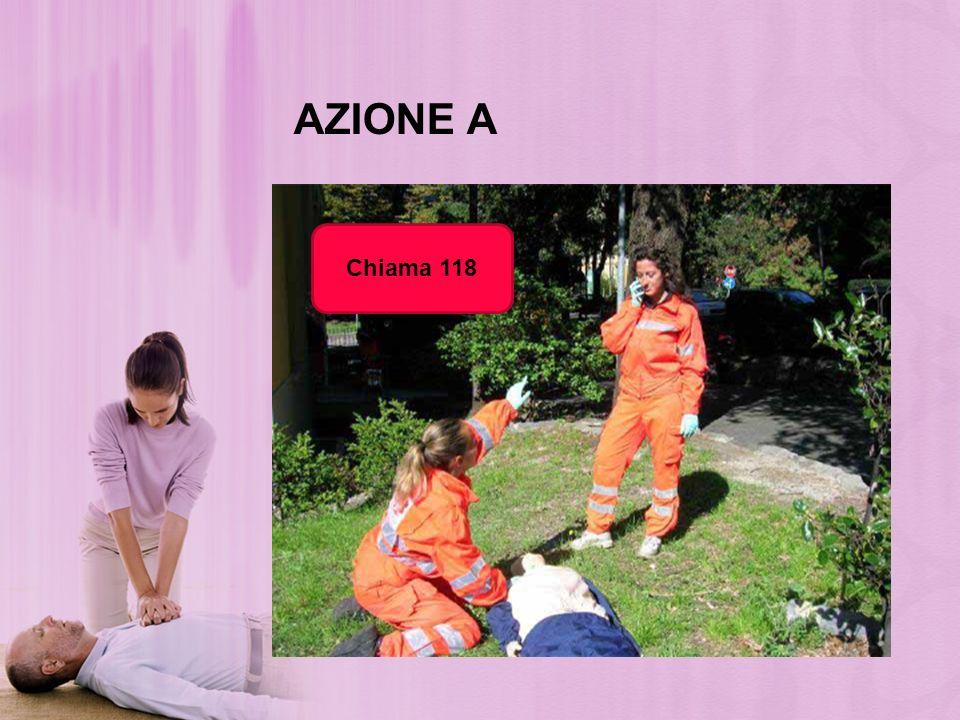 AZIONE A Estensione della testa Solleva il mento Ispeziona visivamente il cavo orale Rimuovi C.E.