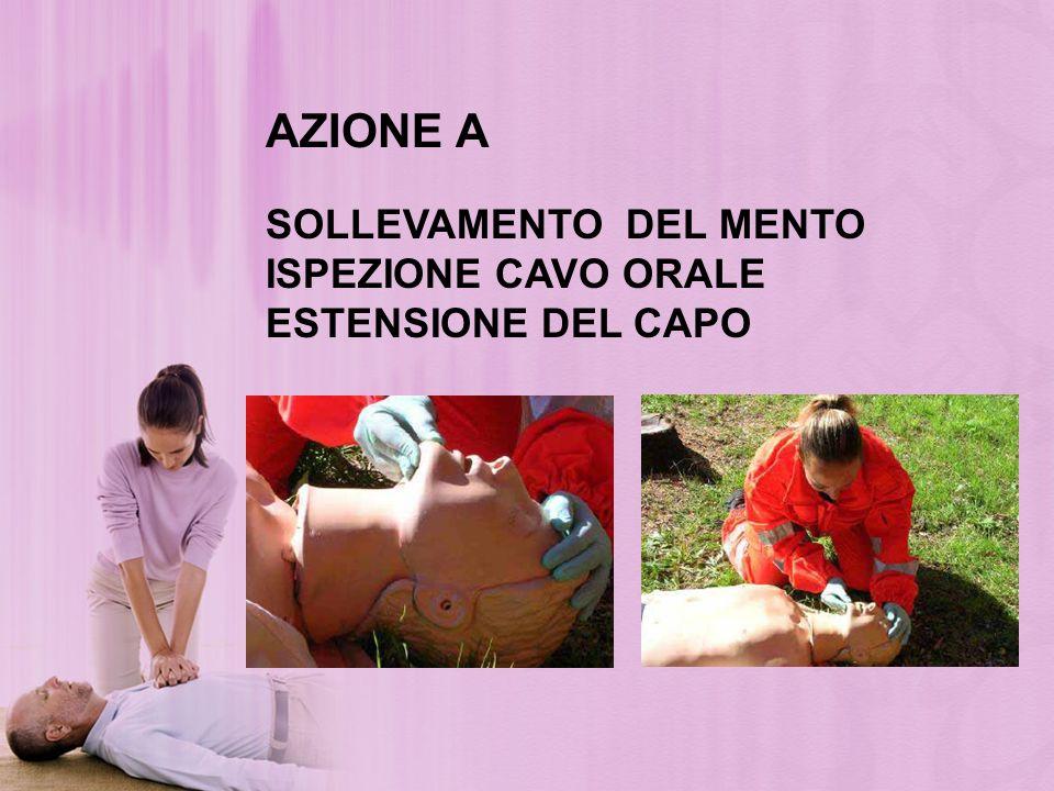 AZIONE A SOLLEVAMENTO DEL MENTO ISPEZIONE CAVO ORALE ESTENSIONE DEL CAPO