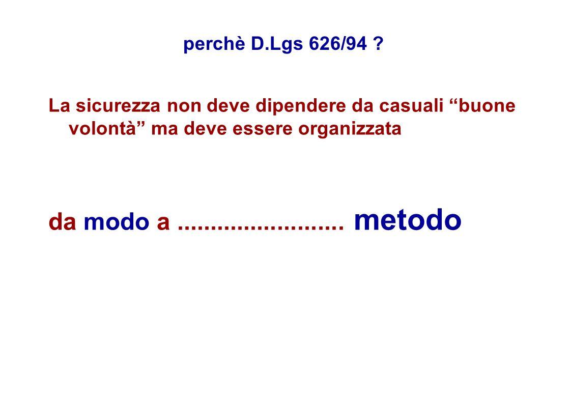 perchè D.Lgs 626/94 .