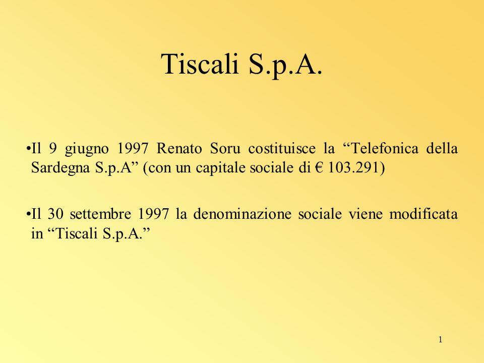 1 Tiscali S.p.A.