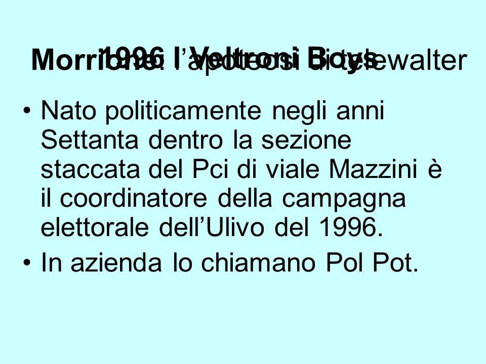 1996 I Veltroni Boys Nato politicamente negli anni Settanta dentro la sezione staccata del Pci di viale Mazzini è il coordinatore della campagna elett