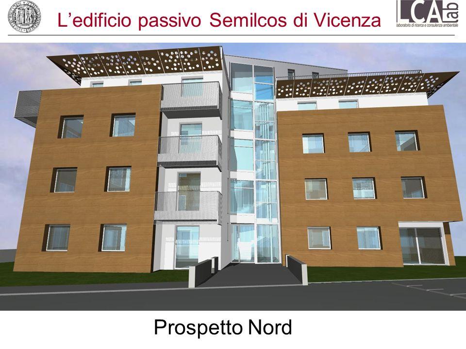 Ledificio passivo Semilcos di Vicenza Prospetto Nord