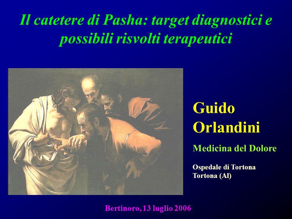 1 Il catetere di Pasha: target diagnostici e possibili risvolti terapeutici Guido Orlandini Medicina del Dolore Ospedale di Tortona Tortona (Al) Berti