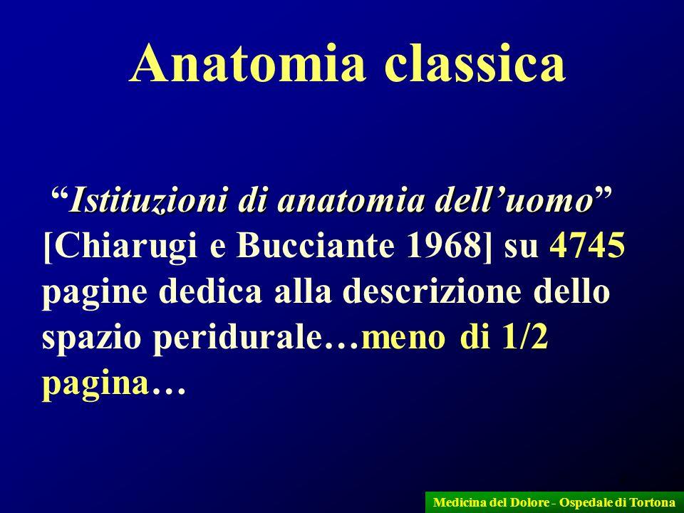 4 Anatomia classica Istituzioni di anatomia delluomo Istituzioni di anatomia delluomo [Chiarugi e Bucciante 1968] su 4745 pagine dedica alla descrizio