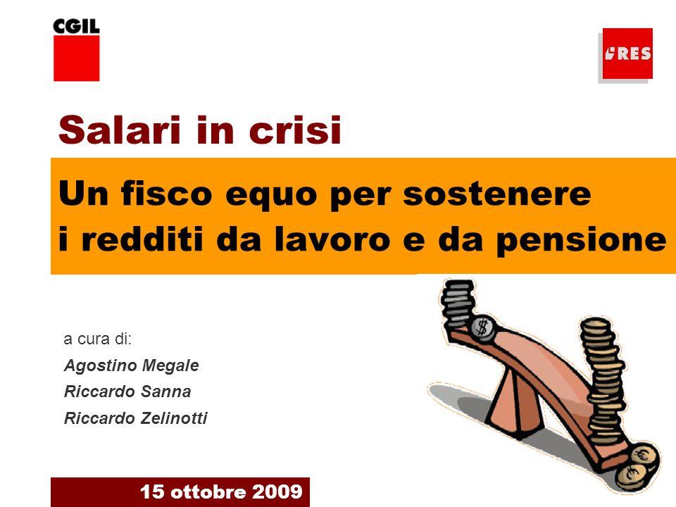 2 Le nostre previsioni indicano una flessione del PIL italiano 2009 del –5%.
