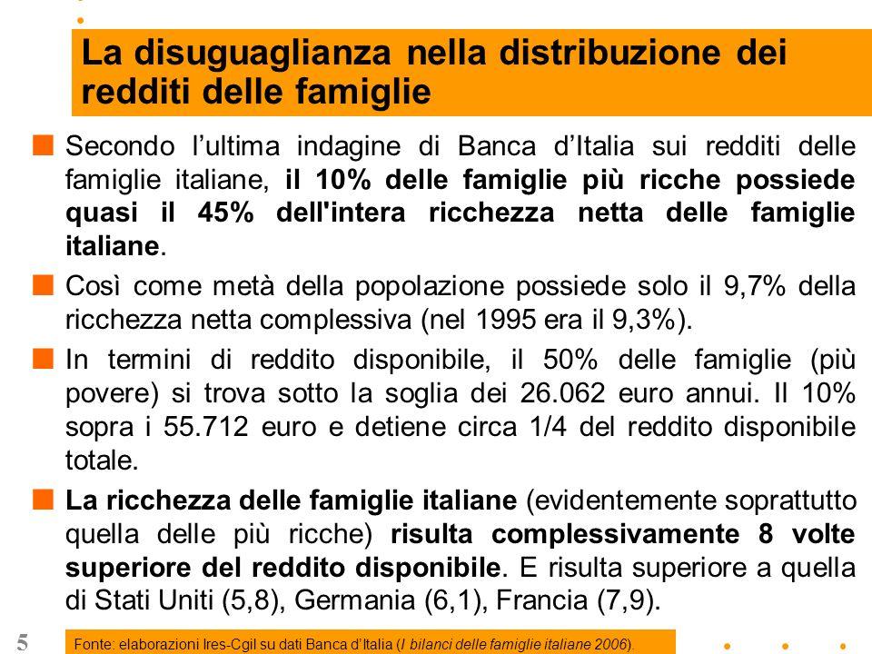 6 … La distribuzione del reddito Fonte: elaborazioni Ires-Cgil su dati CAAF Cgil 2006.