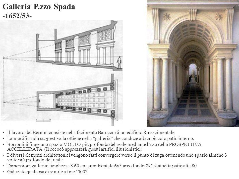 Il lavoro del Bernini consiste nel rifacimento Barocco di un edificio Rinascimentale. La modifica più suggestiva la ottiene nella galleria che conduce