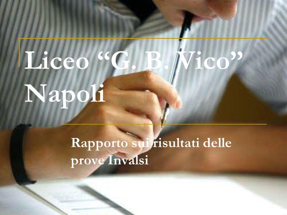 Liceo G. B. Vico Napoli Rapporto sui risultati delle prove Invalsi