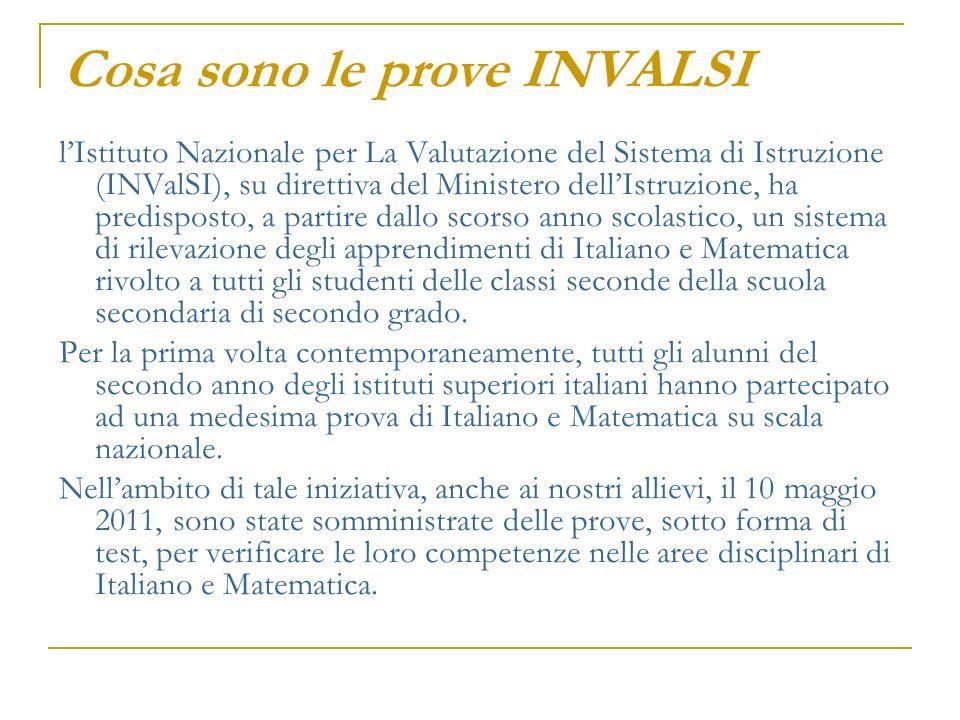 Come sono strutturate le prove Le prove consistono in due test, uno di Italiano e uno di Matematica, strutturati per la maggior parte con quesiti a scelta multipla, alcuni a risposta aperta.