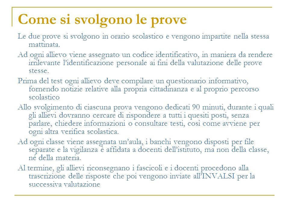 Quale importanza hanno le prove In generale, le prove nazionali sono uno strumento utile per avere una valutazione di tipo oggettivo dei risultati raggiunti dalle diverse scuole italiane, in riferimento alla città, regione o macroarea di appartenenza e a tutto il territorio nazionale.