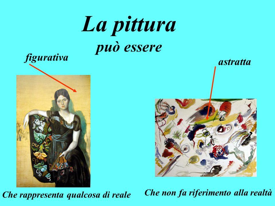 La pittura può essere figurativa astratta Che rappresenta qualcosa di reale Che non fa riferimento alla realtà