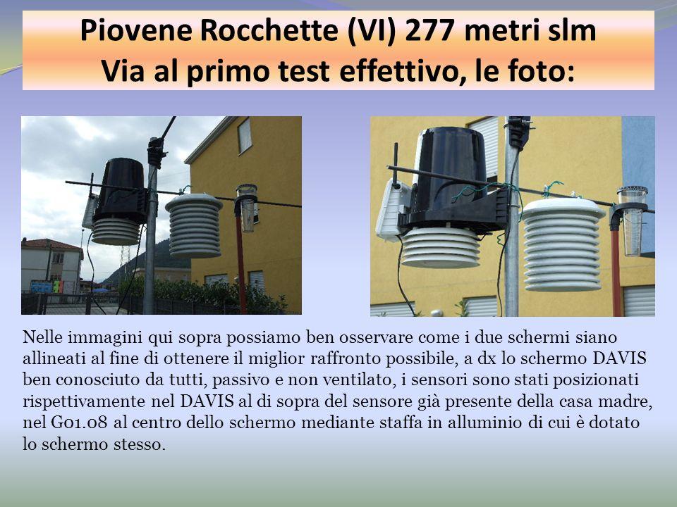 Piovene Rocchette (VI) 277 metri slm Via al primo test effettivo, le foto: Nelle immagini qui sopra possiamo ben osservare come i due schermi siano al
