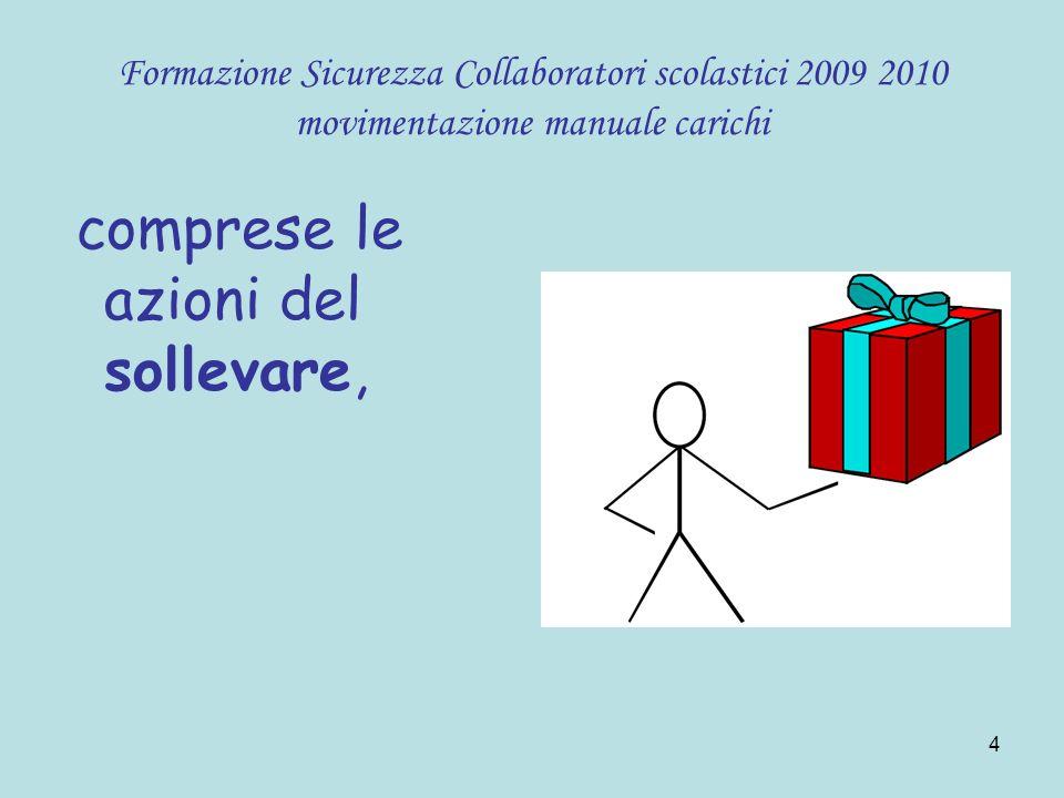 5 Formazione Sicurezza Collaboratori scolastici 2009 2010 movimentazione manuale carichi deporre,