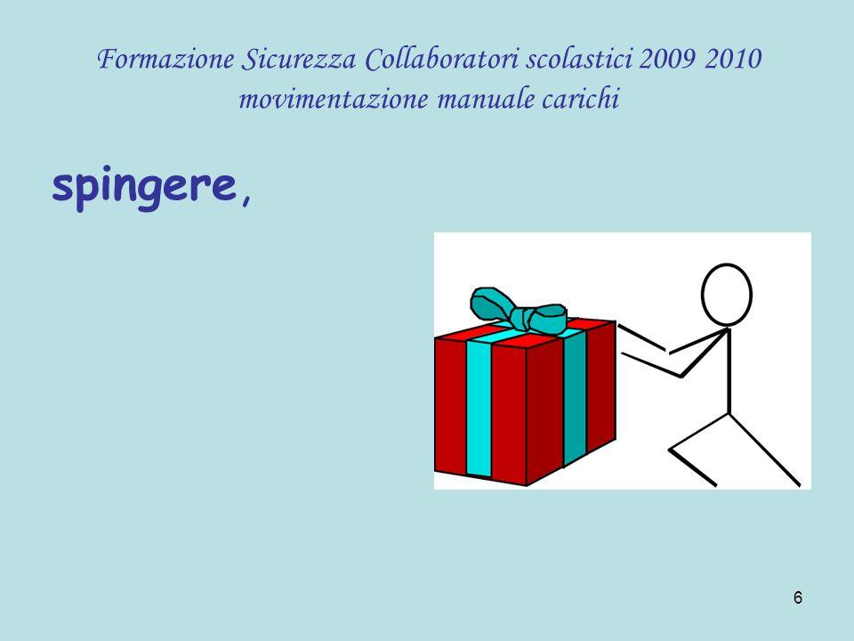 47 Formazione Sicurezza Collaboratori scolastici 2009 2010 movimentazione manuale carichi
