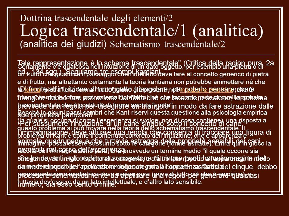 Dottrina trascendentale degli elementi/2 Logica trascendentale/1 (analitica) (analitica dei giudizi) Il costruttivismo kantiano Kant ritiene fondamentale questa attività dellintelletto, ma la definisce come unarte nascosta nelle profondità dellanima umana .