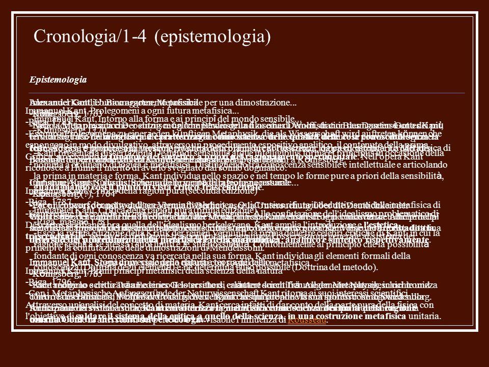 Cronologia/2-4 (etica) Etica Immanuel Kant, Osservazioni sul sentimento del bello e del sublime -K ö nigsberg, 1764 -Escono le Beobachtungen ü ber das Gef ü hl des Sch ö nen und Erhabenen che contengono importanti indicazioni sull orientamento della prima etica kantiana.
