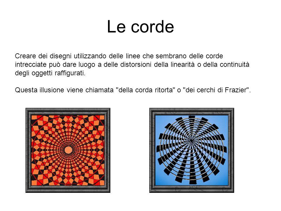 L illusione del binario Quando si accostano dei segmenti paralleli a delle linee oblique si può assistere alla nota illusione del binario chiamata anche l illusione dei segmenti di Ponzo dal nome dello scopritore di questo fenomeno.