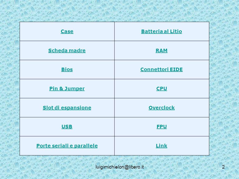 luigimichielon@libero.it13 La memoria secondaria Serve per depositare temporaneamente i dati ed i programmi con i quali si vuole lavorare in un certo istante.
