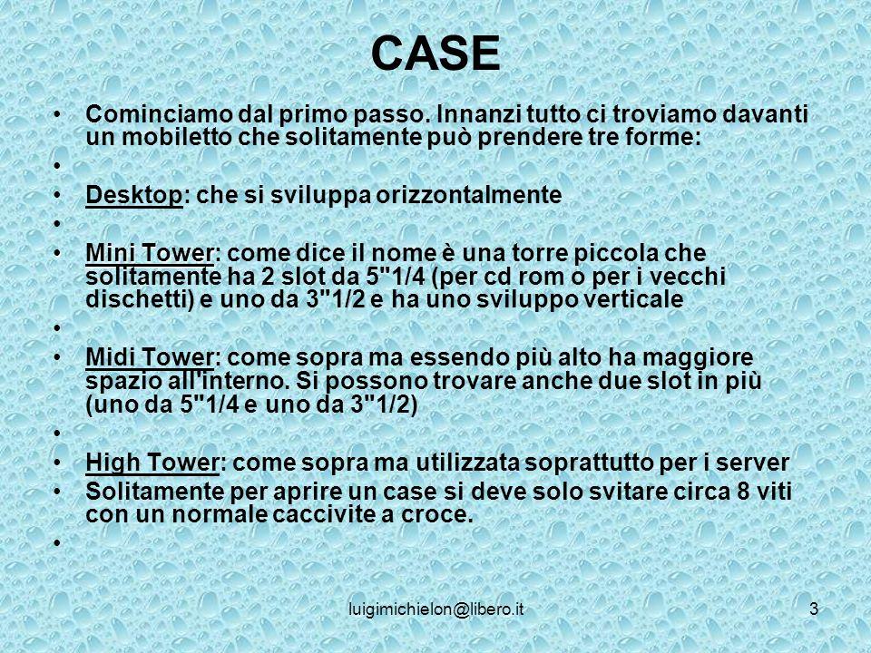 luigimichielon@libero.it3 CASE Cominciamo dal primo passo.
