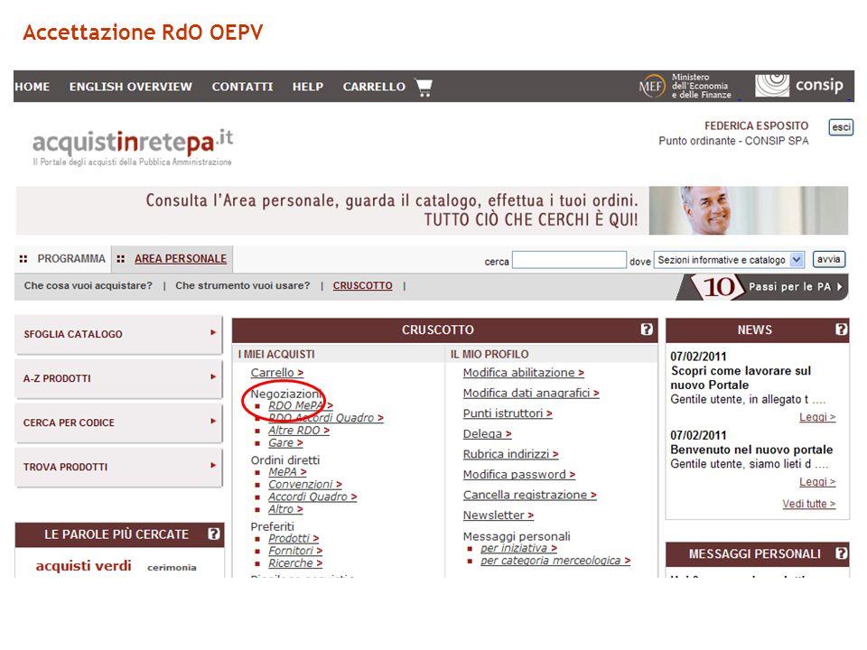 Accettazione RdO OEPV