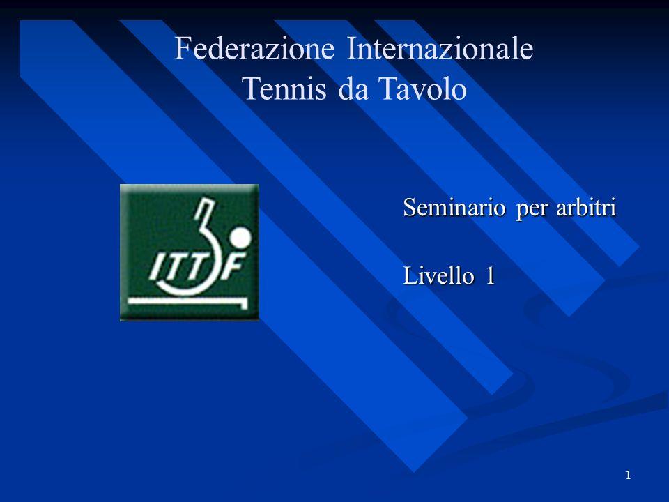 1 Federazione Internazionale Tennis da Tavolo Seminario per arbitri Livello 1 Livello 1