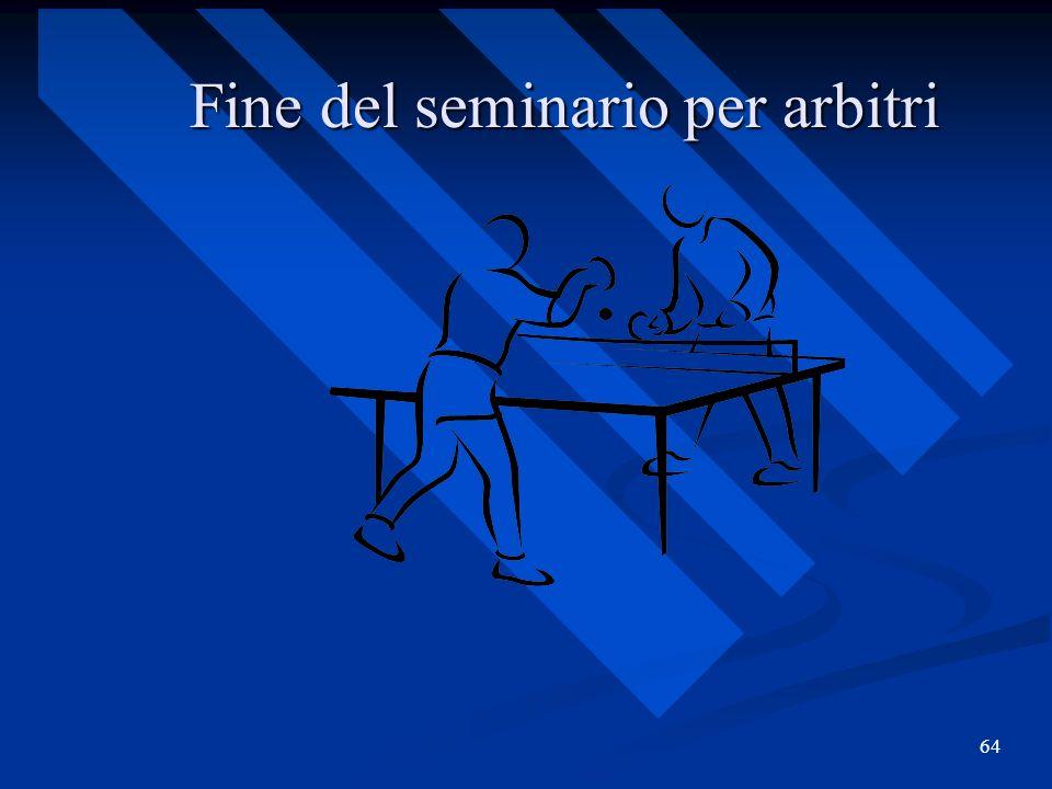 64 Fine del seminario per arbitri