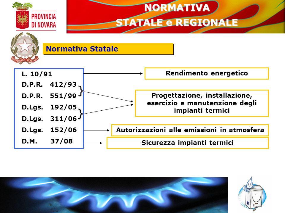 DISPOSIZIONI ATTUATIVE DELLA L.R.13/2007 IN MATERIA DI IMPIANTI TERMICI L.