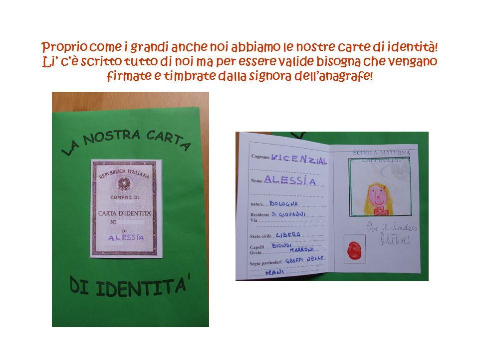 Proprio come i grandi anche noi abbiamo le nostre carte di identità! Li cè scritto tutto di noi ma per essere valide bisogna che vengano firmate e tim