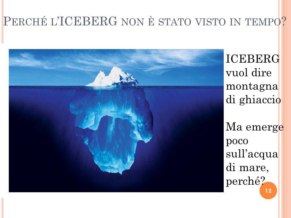 P ERCHÉ L ICEBERG NON È STATO VISTO IN TEMPO .