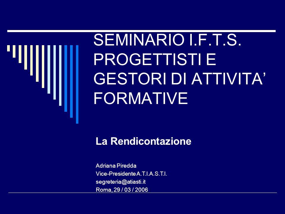 SEMINARIO I.F.T.S.