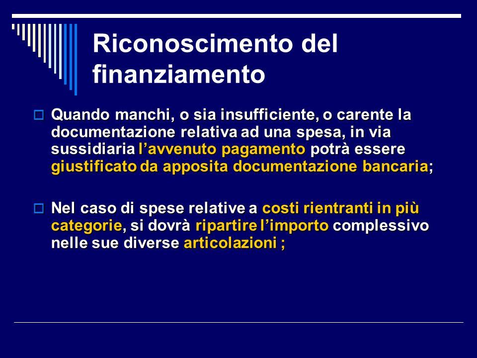 Riparametrazione della sovvenzione autorizzata a preventivo 2.