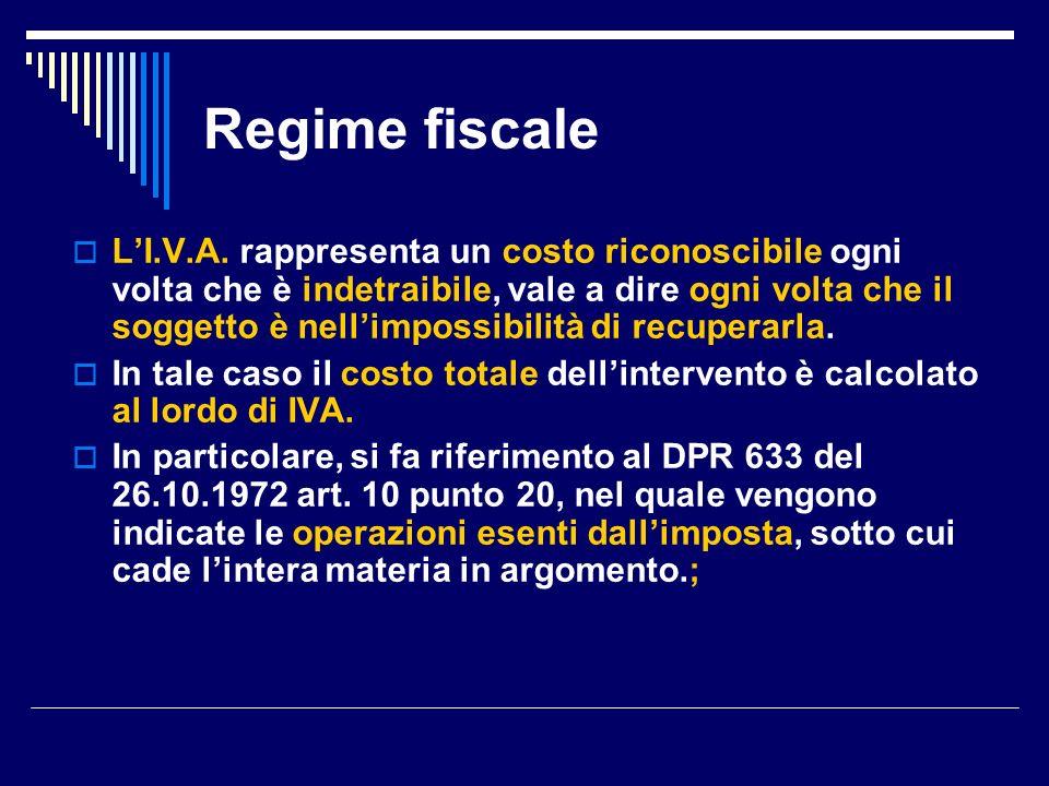 Regime fiscale Inoltre, la successiva Legge n.537 del 24.12.1993 art.