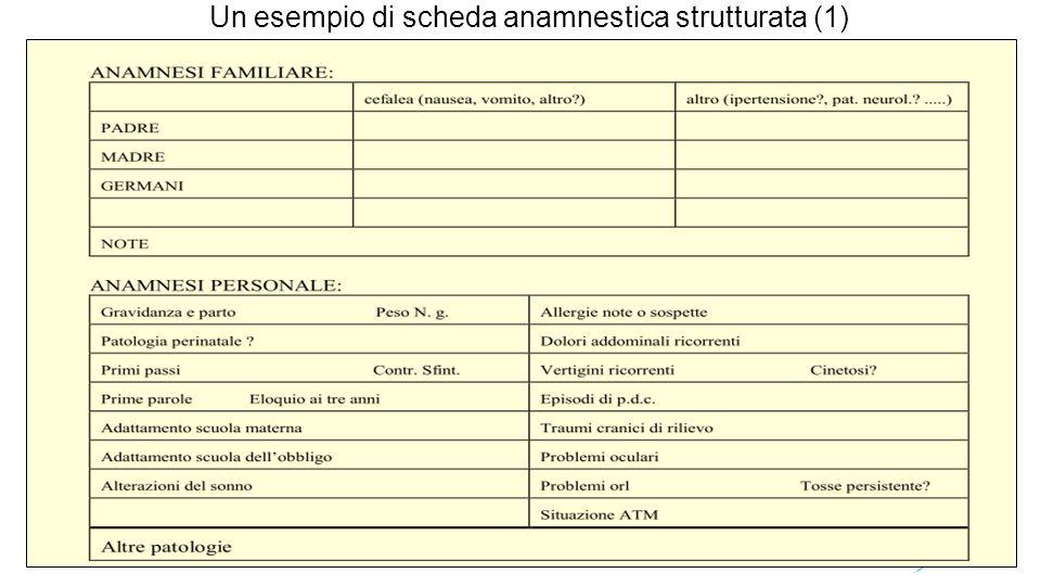 Un esempio di scheda anamnestica strutturata (1)