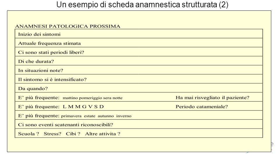 Un esempio di scheda anamnestica strutturata (2)