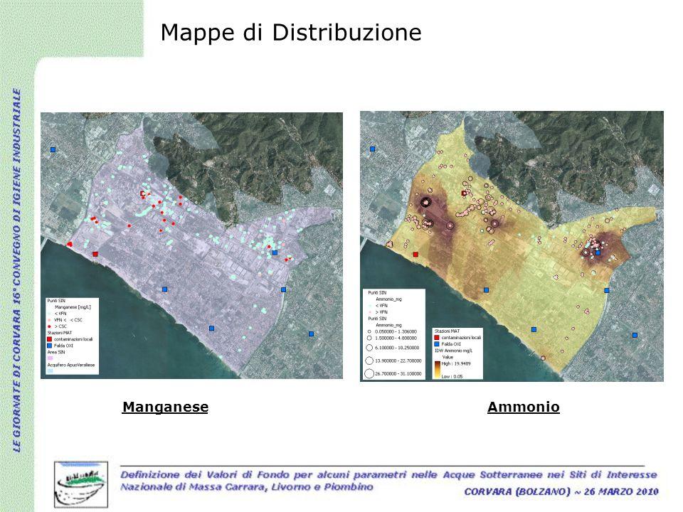 Mappe di Distribuzione ManganeseAmmonio