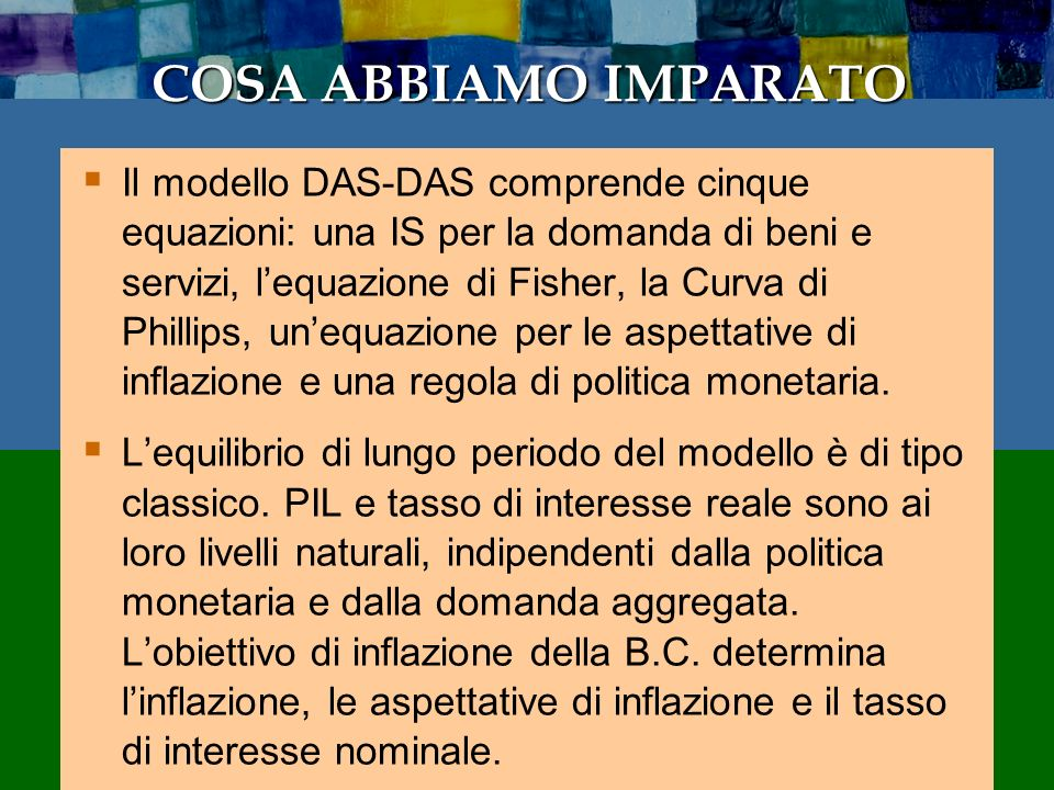 35 CHAPTER 14 Dynamic AD-AS Model E questo crea uneconomia instabile.
