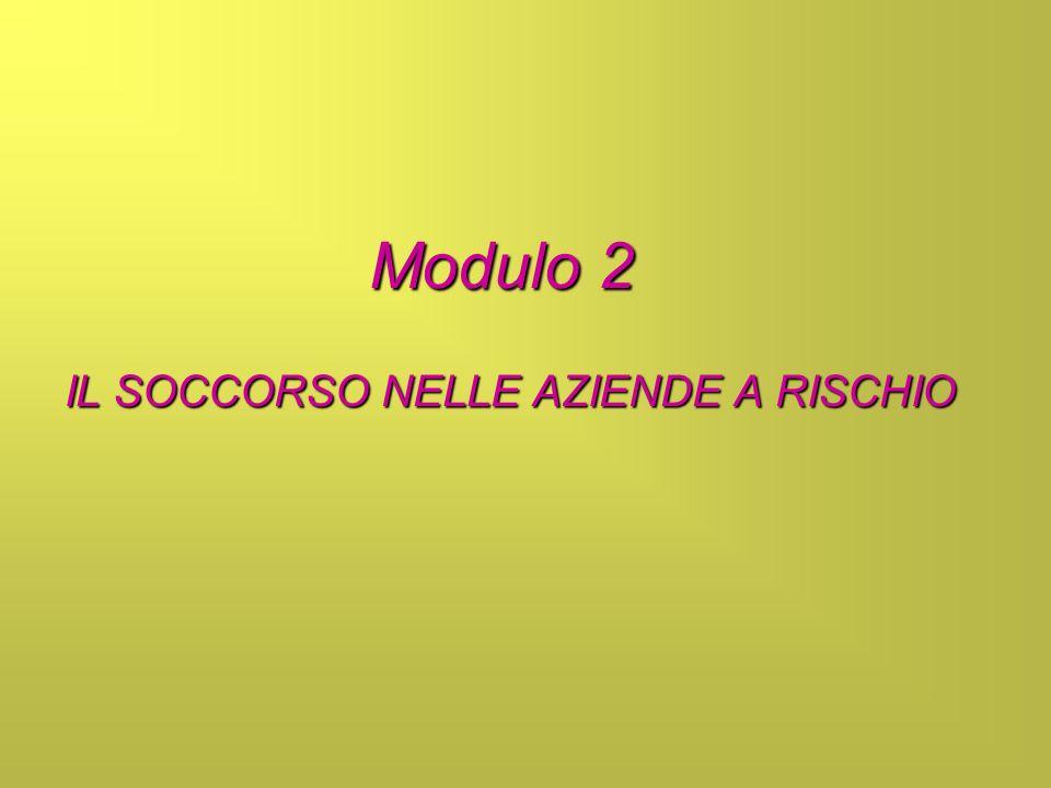Modulo 2 IL SOCCORSO NELLE AZIENDE A RISCHIO
