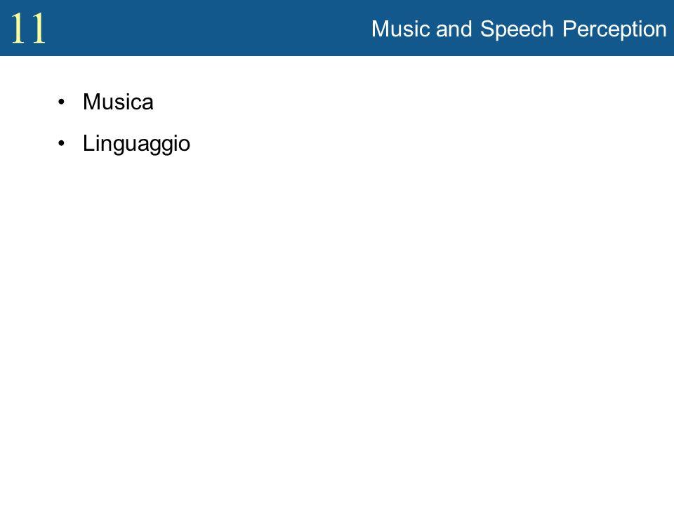 11 Music La musica come mezzo per esprimere pensieri ed emozioni –Pitagora: Numeri e intervalli musicali –Alcuni psicologi clinici praticano la musicoterapia