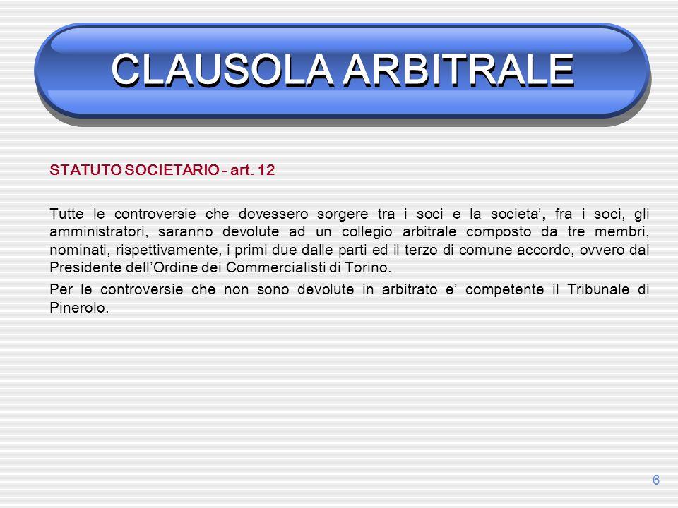 7 Verbale: 1a udienza VERBALE DI RIUNIONE del 22 maggio 2009 Nel procedimento arbitrale tra: Marco DArrigo, residente in …., 10100, Torino (qui di seguito DArrigo), rappresentato e difeso dallAvv.
