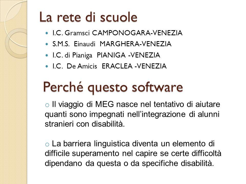 La sperimentazione Completata la costruzione del software (in versione italiana), si è avviata la fase di sperimentazione presso le scuole primarie della rete di scuole coinvolte nel progetto.
