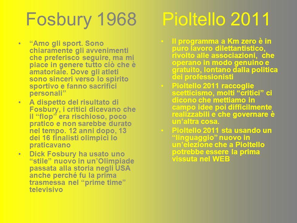 Fosbury 1968 Pioltello 2011 Amo gli sport.