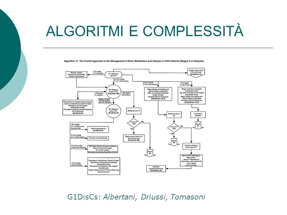ALGORITMI E COMPLESSITÀ G1DisCs: Albertani, Driussi, Tomasoni
