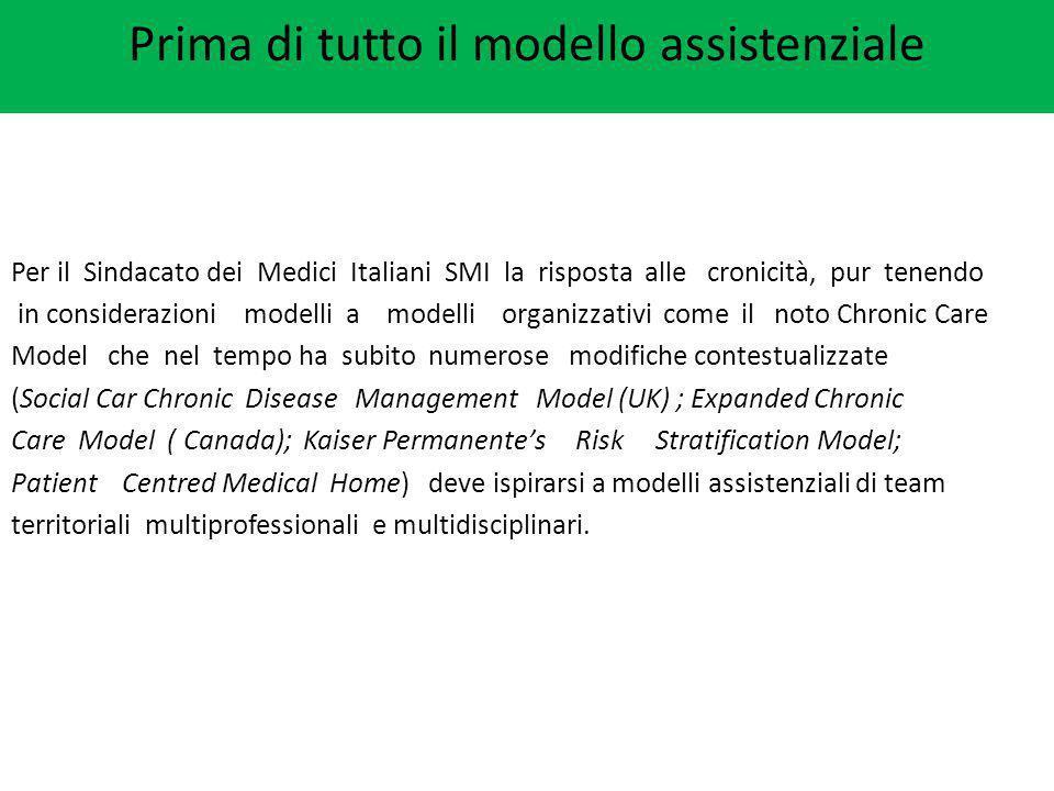 Per il Sindacato dei Medici Italiani SMI la risposta alle cronicità, pur tenendo in considerazioni modelli a modelli organizzativi come il noto Chroni