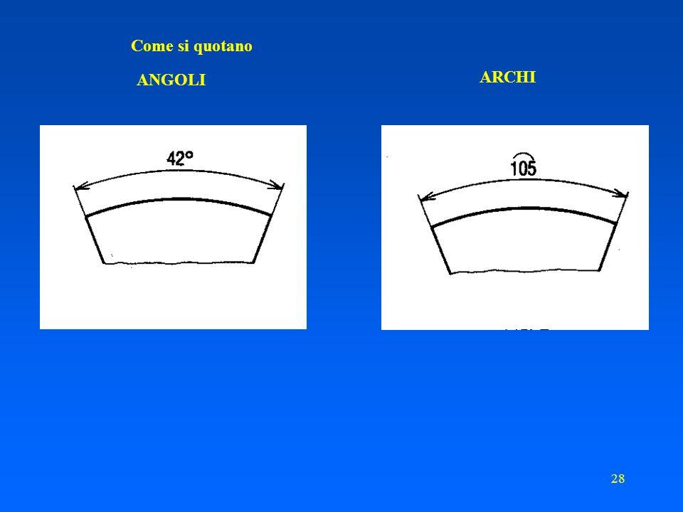 27 Sistemi di quotatura: quotatura in coordinate polari con rullo di misura