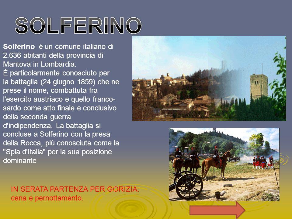 Solferino è un comune italiano di 2.636 abitanti della provincia di Mantova in Lombardia. È particolarmente conosciuto per la battaglia (24 giugno 185