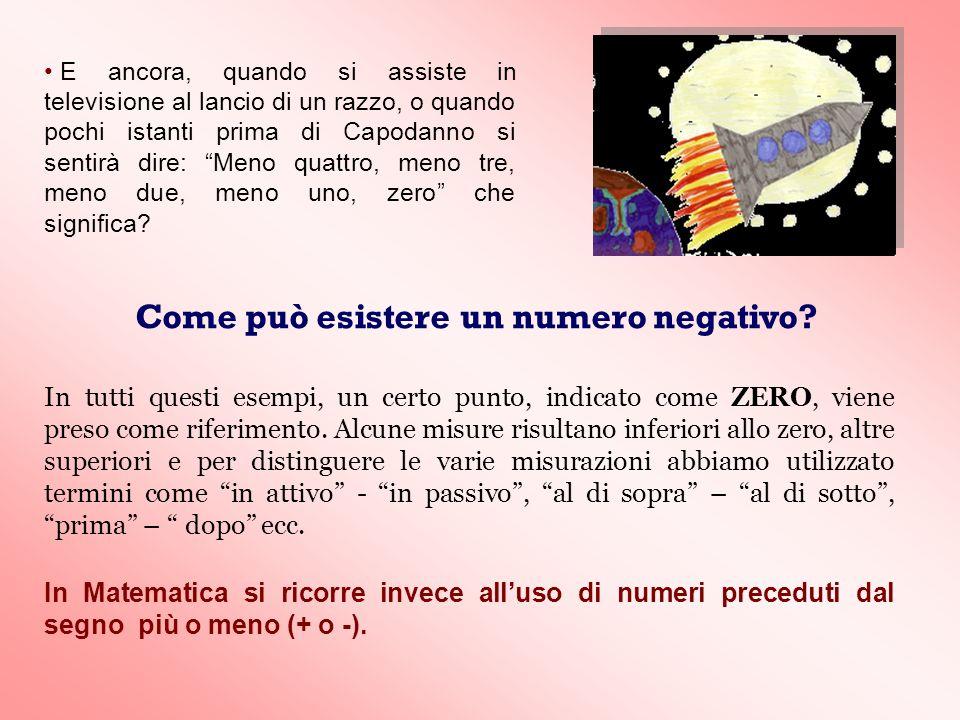 C) I due numeri da sommare hanno uno segno positivo e laltro segno negativo: es.